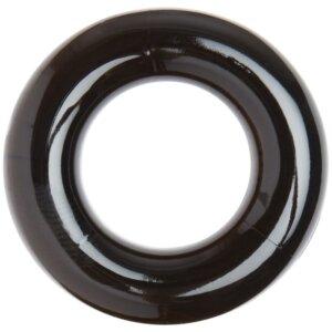 rund sort skinnende penisring